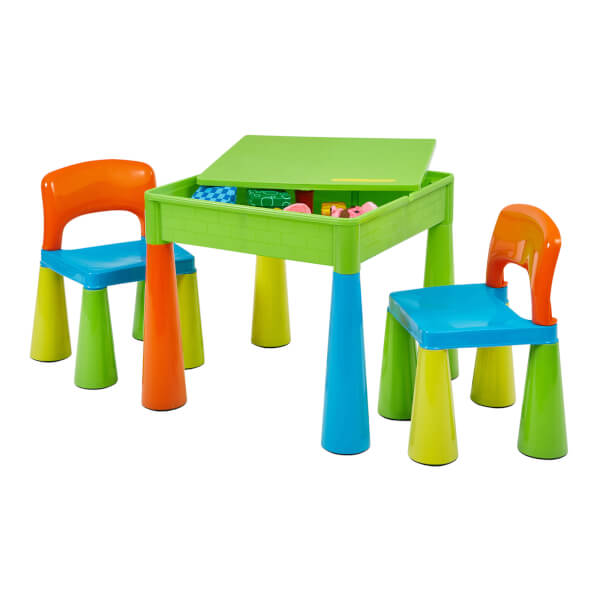 Multicoloured Activity Table And 2 Chairs