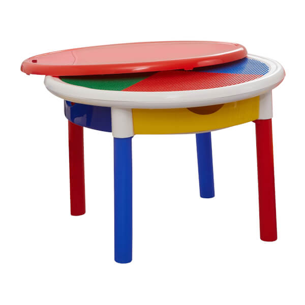 Round Activity Table With Drawers