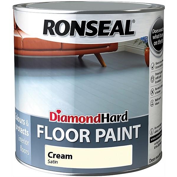 Ronseal Diamond Hard Cream - Floor Paint - 2.5L
