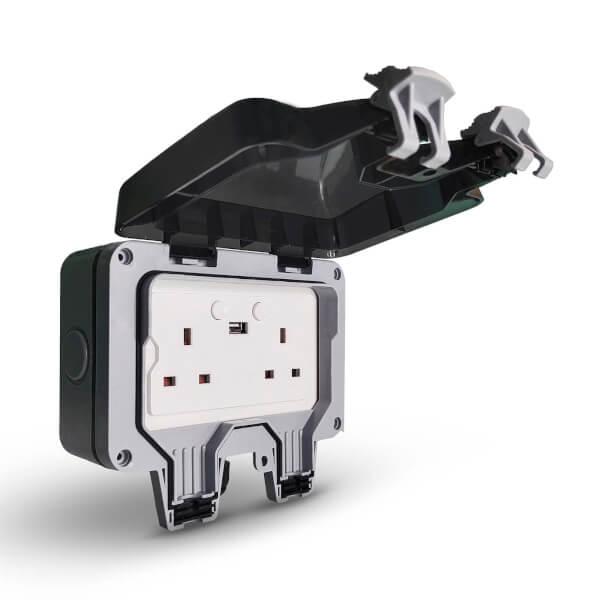 Ener-J Smart WiFi Double Outdoor Socket
