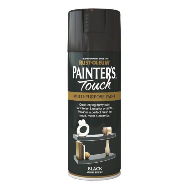 Rust-Oleum Gloss Spray Paint - Black - 400ml
