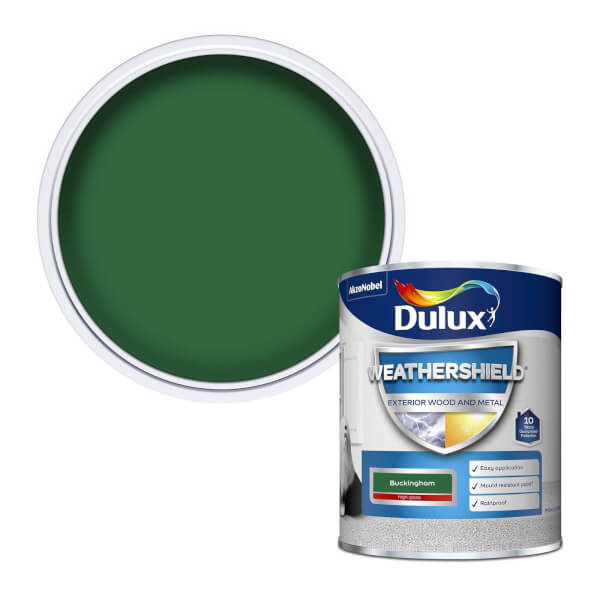 Dulux Weathershield Exterior Gloss Paint - Buckingham - 750ml