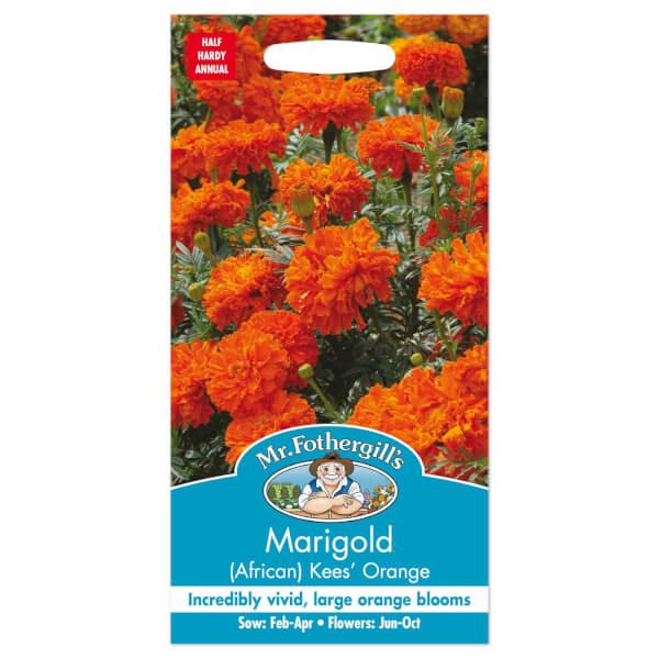 Mr. Fothergill's African Marigold Kees Orange Seeds