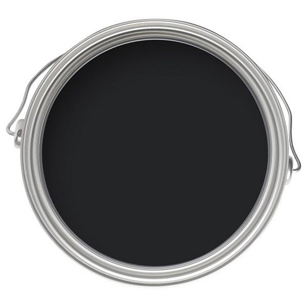 Farrow & Ball Estate No.256 Pitch Black - Matt Emulsion Paint - 2.5L