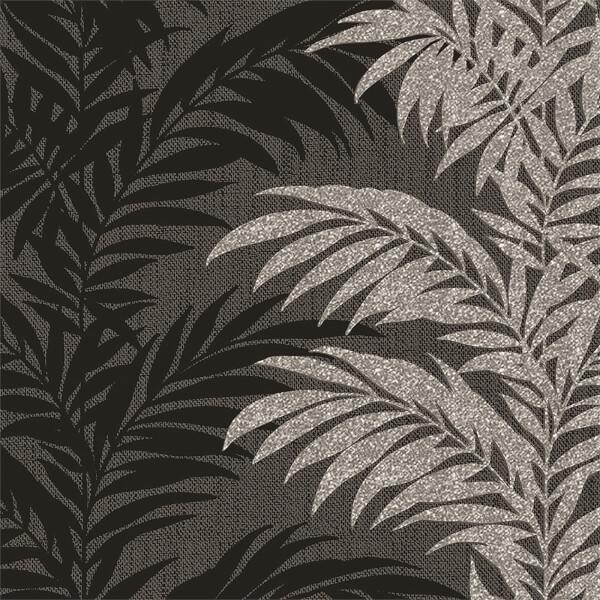 Belgravia Decor Aria Glitter Silver and Black Wallpaper
