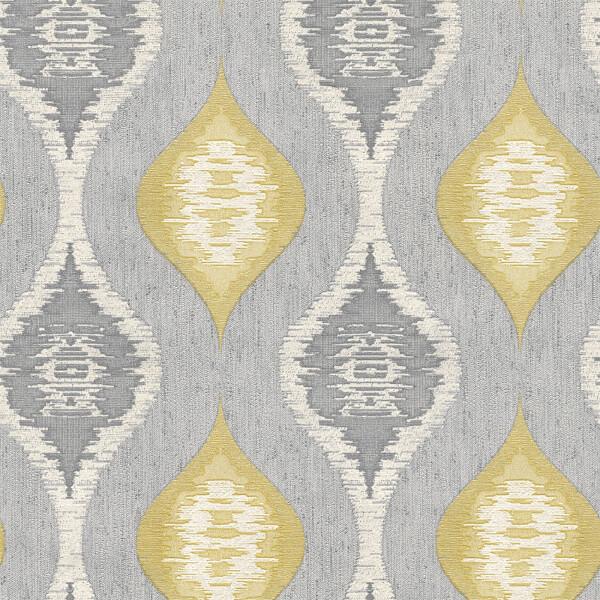 Belgravia Decor San Marino Geo Textured Vinyl Glitter Silver Wallpaper