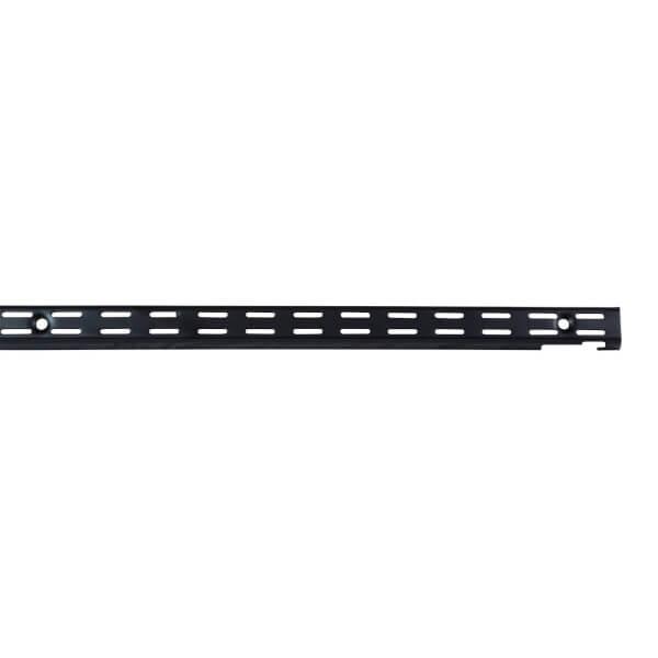 Double Slot Upright - Black - 1206mm