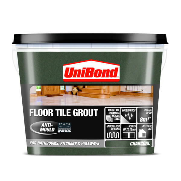 Unibond Ready Mixed Floor Grout Charcoal Grey - 3.75kg