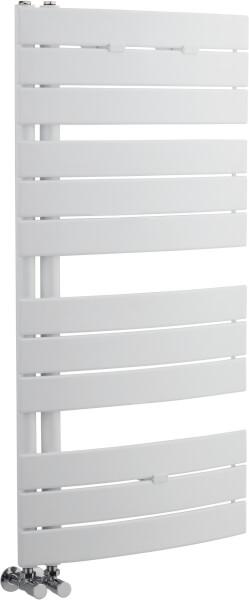 Balterley Curved Towel Rail - 1080 x 550mm - High Gloss White