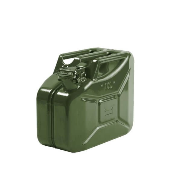 10L Steel Jerry Can - Olive Green