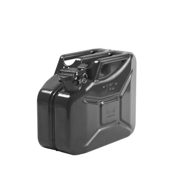 10L Steel Jerry Can - Black
