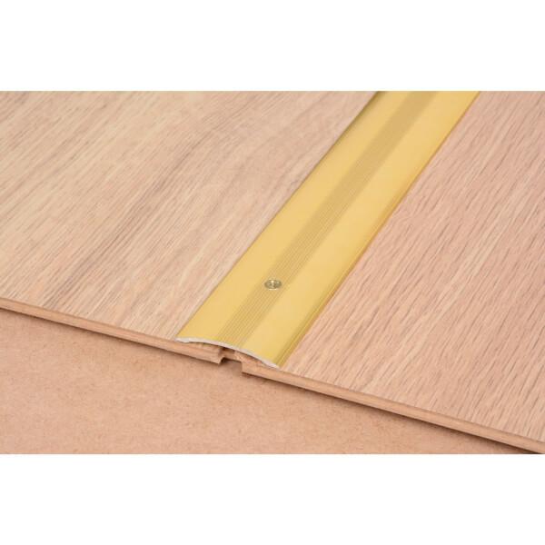 Cover Strip One Level Laminate & Vinyl Edge - Gold 900mm