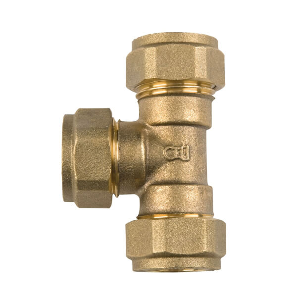 Compression Equal Tee - Brass - 15mm