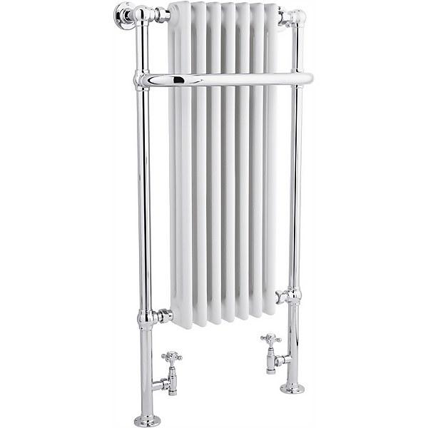 Balterley Harrington Towel Radiator - 1130 x 553mm - Chrome/White