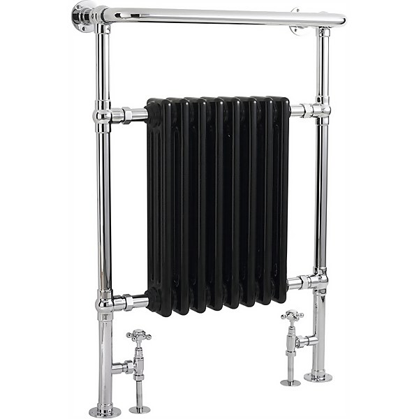Balterley Harrington Towel Radiator - 960 x 675mm - Chrome / Black