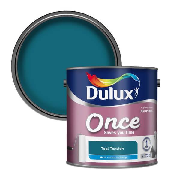 Dulux Once Teal Tension - Matt Paint - 2.5L