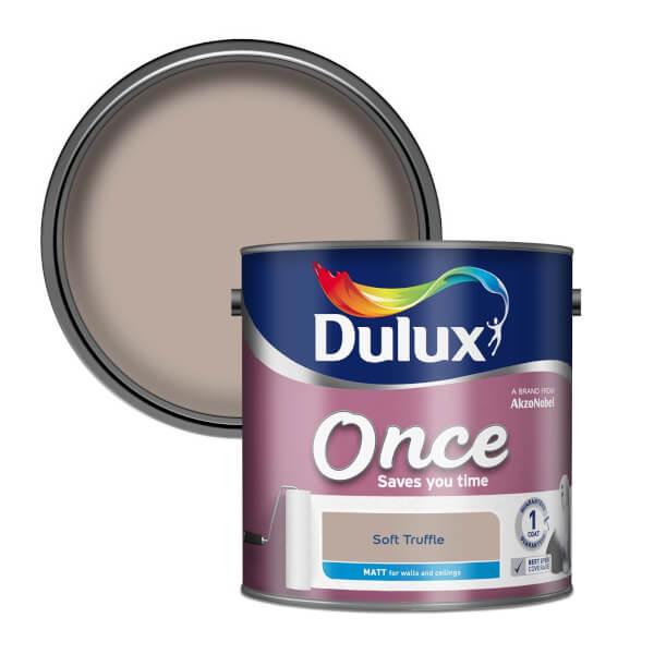 Dulux Once Soft Truffle - Matt Emulsion Paint - 2.5L