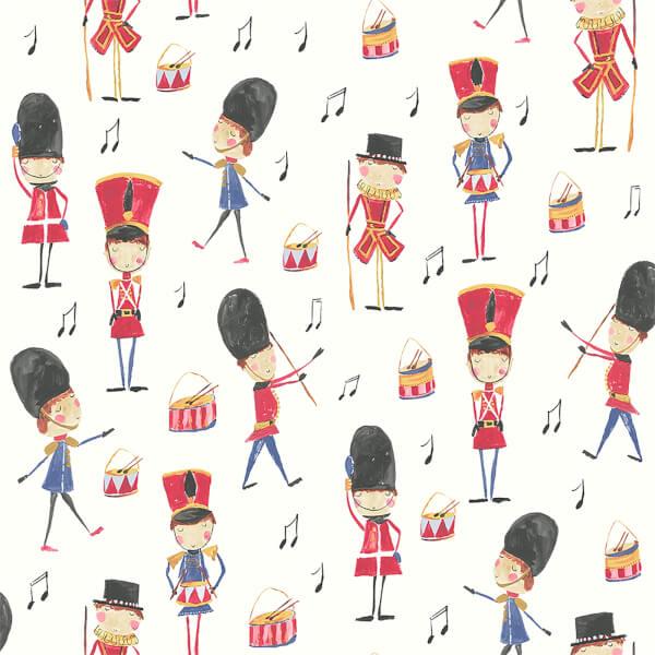 Arthouse Drummer Boy Soldier Kids Smooth Multi Coloured Wallpaper