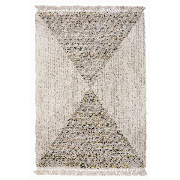 Safi Fringed Pyramid Natural Rug - 160 x 230cm