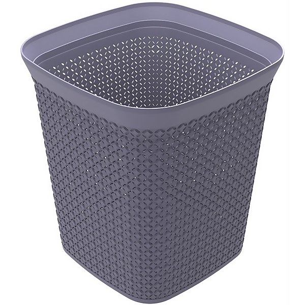 Ezy Storage Mode 13L Square Waste Bin - Lilac