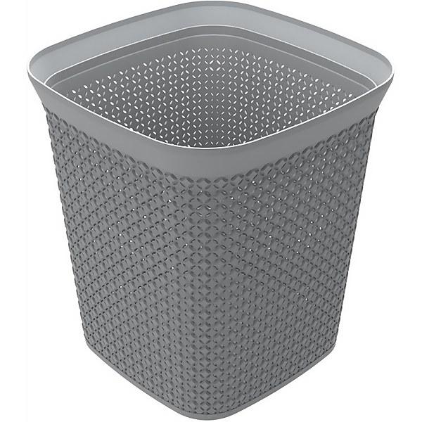 Ezy Storage Mode 13L Square Waste Bin - Grey