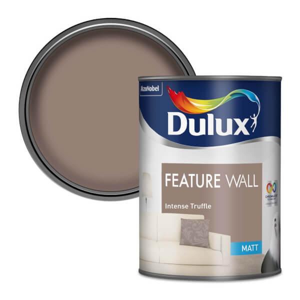 Dulux Feature Wall Intense Truffle - Matt Emulsion Paint - 1.25L