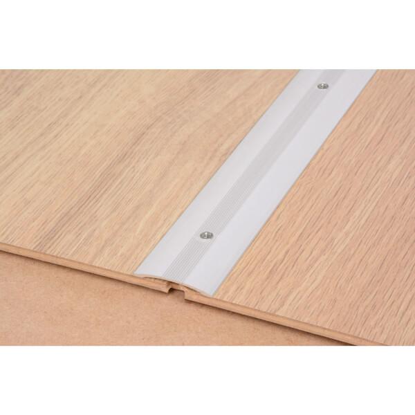 Cover Strip One Level Laminate & Vinyl Edge - Silver 900mm