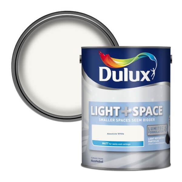 Dulux Light & Space Absolute White - Matt Emulsion Paint - 5L
