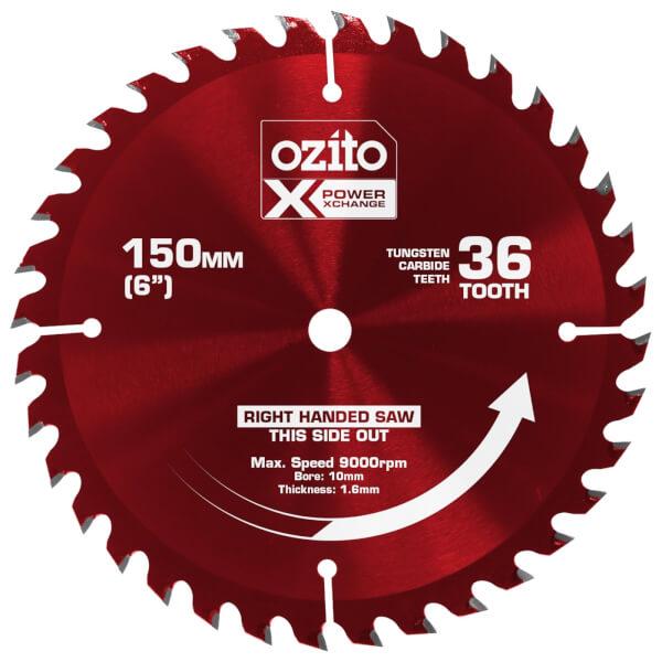 Ozito by Einhell Power X Change 150mm 36 Tooth Circular Saw Blade