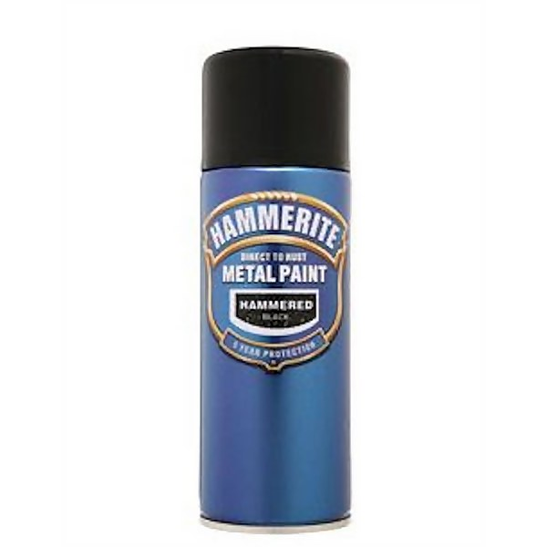 Hammerite Black - Hammered Exterior Aerosol Paint - 400ml
