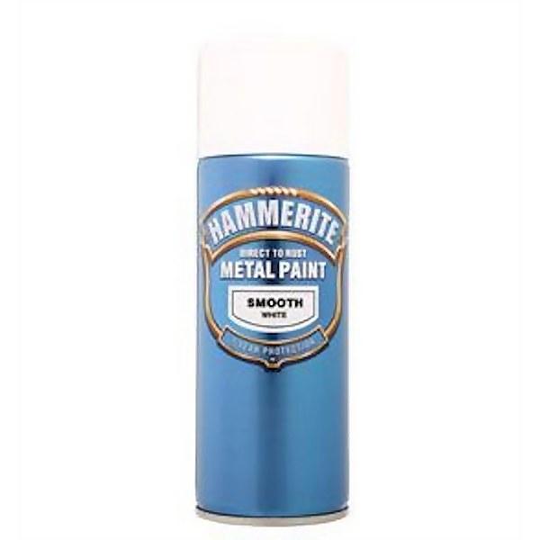 Hammerite White - Exterior Smooth Aerosol Paint - 400ml