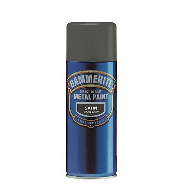 Hammerite Black - Aerosol Direct to Rust Metal Paint - 400ml