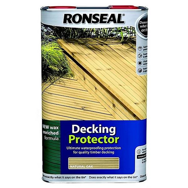 Ronseal Decking Protector - Natural Oak 5L