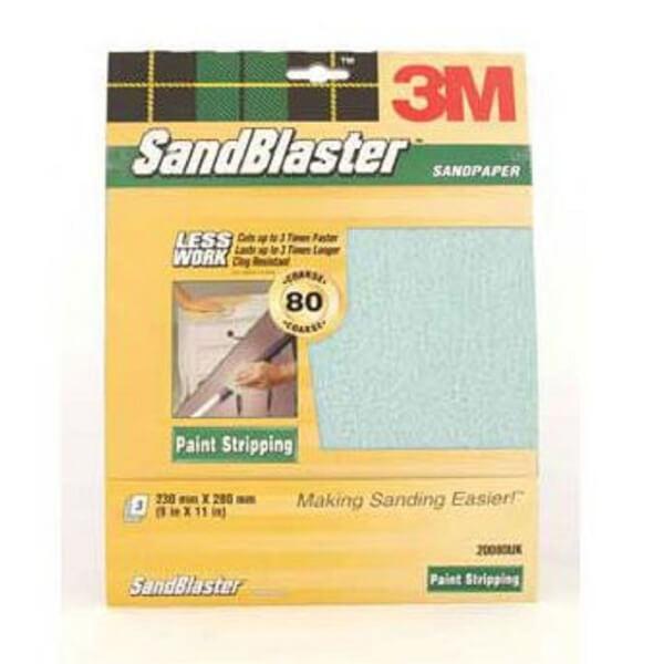 3M P80 SandBlaster Sandpaper - Medium - 3 Pack