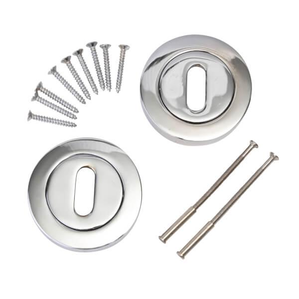 Keyhole Escutcheon - Polished Chrome
