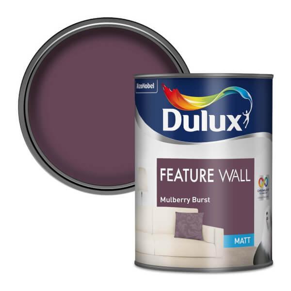 Dulux Feature Wall Mulberry Burst - Matt Emulsion Paint - 1.25L
