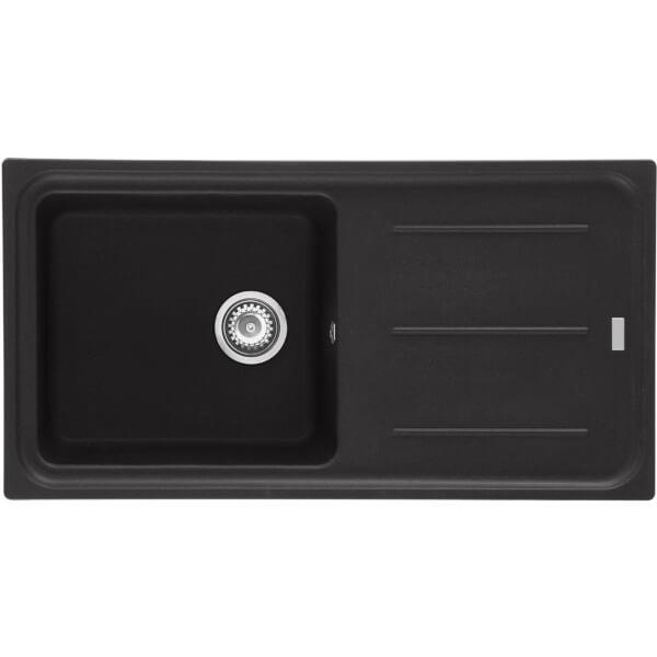 Mondella Premium Black Granite Reversible Kitchen Sink - 1 Bowl