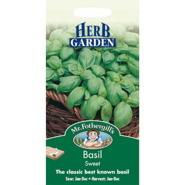 Mr. Fothergill's Basil Sweet Genovese (Ocimum Basilicum) Seeds