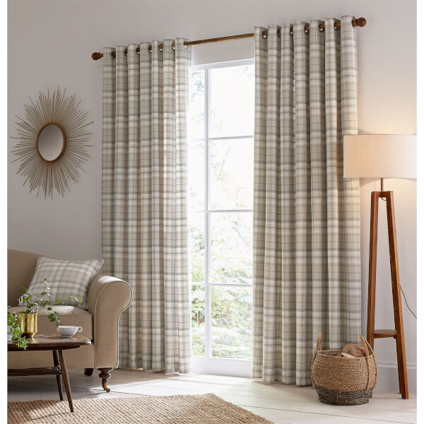 Helena Springfield Harriet Lined Curtains 90 x 90 - Taupe