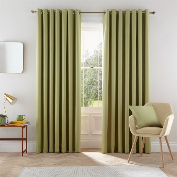 Helena Springfield Eden Lined Curtains 90 x 90 - Willow