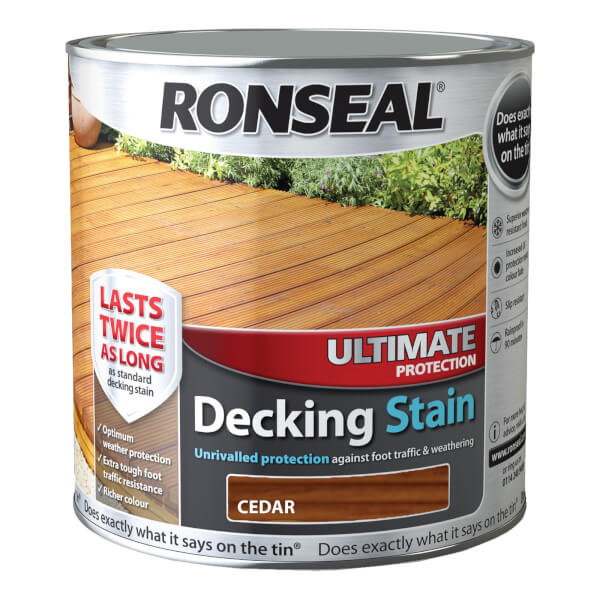 Ronseal Ultimate Protection Decking Stain Cedar - 2.5L