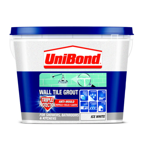 UniBond Anti Mould Tile Grout - Ice White