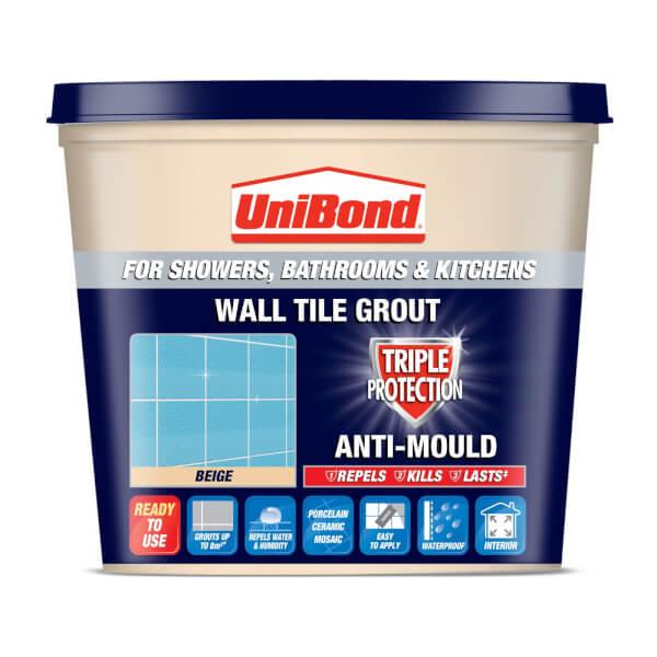 UniBond Anti Mould Tile Grout Beige 1L