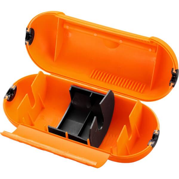 Masterplug Splashproof Housing Unit for Single Plug and Socket Orange