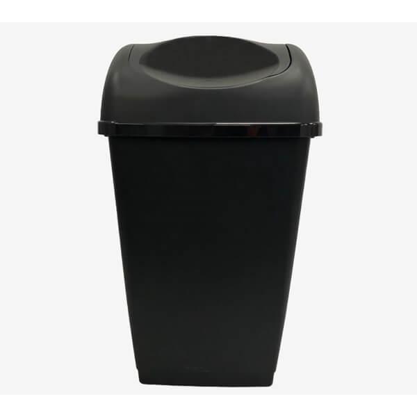 50lt Swing Bin Recycled Material - Black