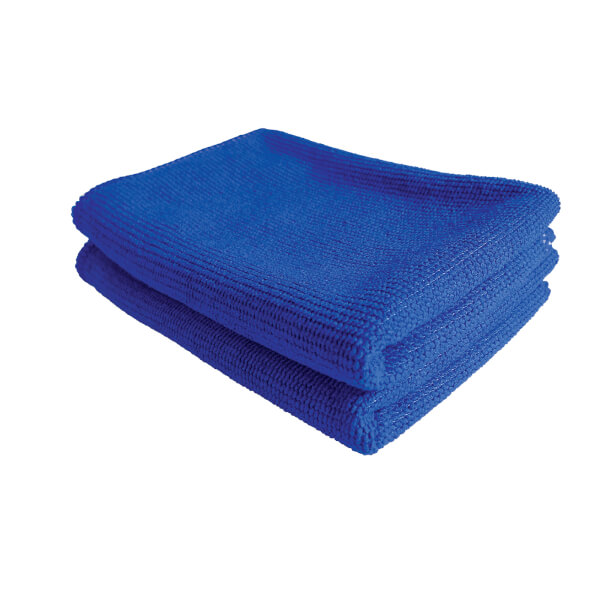 Microfibre Glass & Stainless Steel Cloths - Pack of 2
