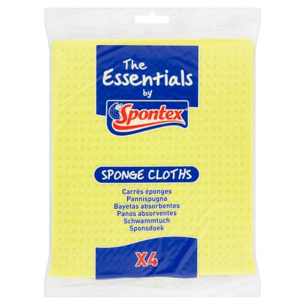 Spontex Essentials Sponge Cloths 4 Pack