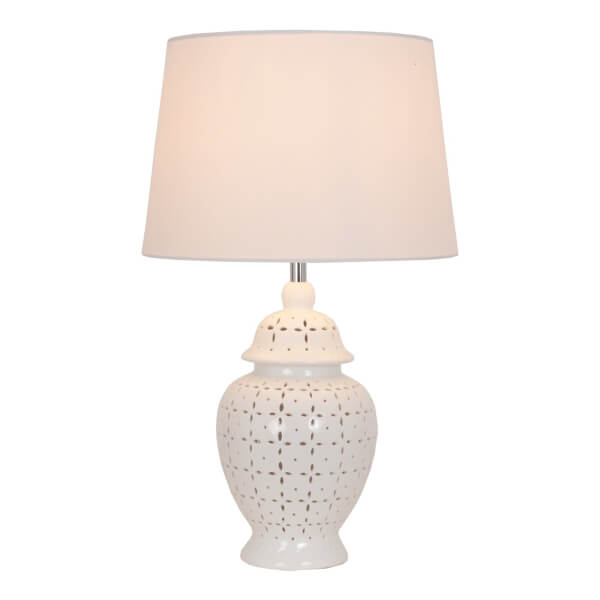 Selma 2 Light Ceramic Table Lamp