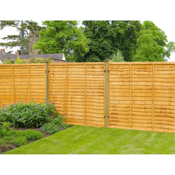 Forest Lap Fence Panel - 6x3ft