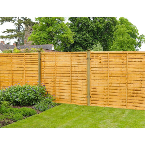 Forest Lap Fence Panel - 6x4ft